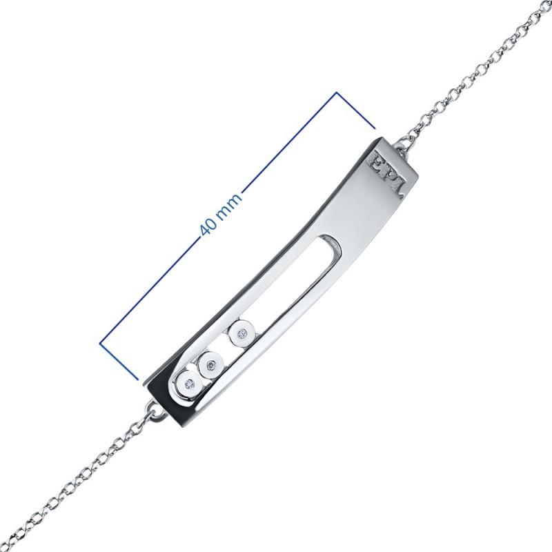 Браслет из серебра с бриллиантом э0601бр03181400 (фото 3)