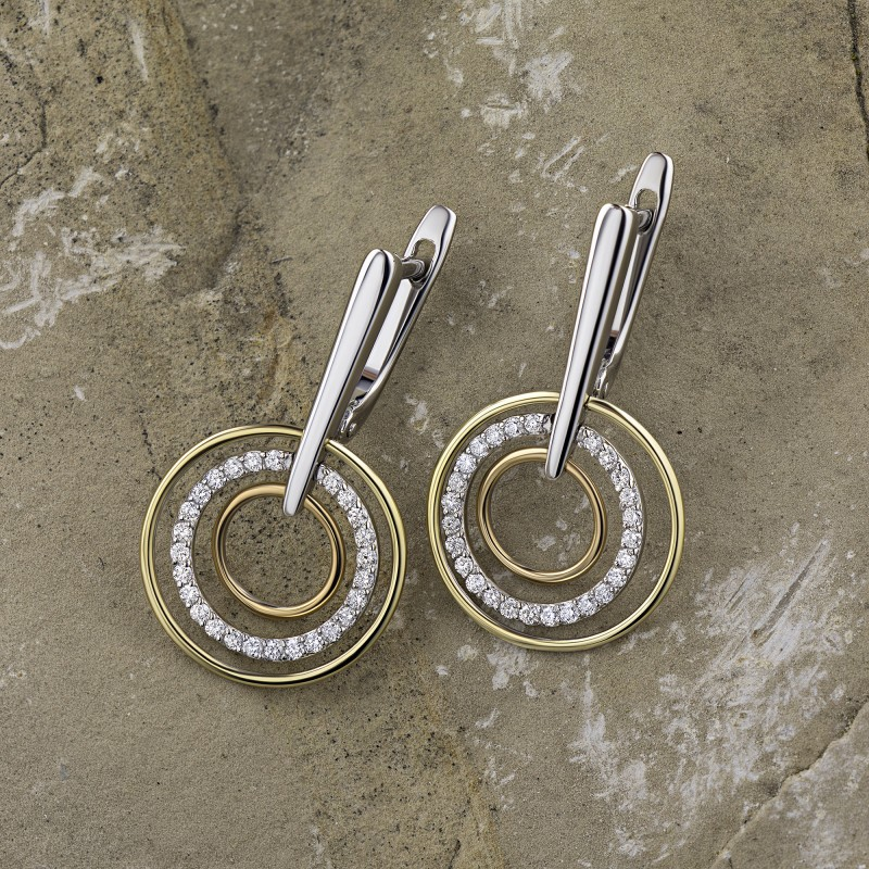 Серьги из белого золота с бриллиантом э1201сг05192700 (фото 4)