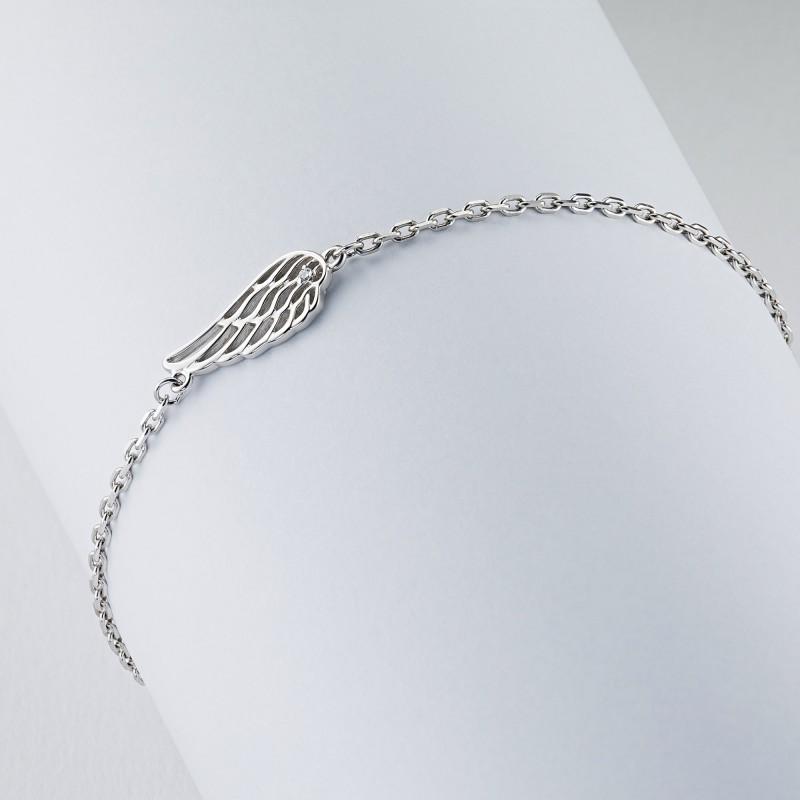 Браслет из серебра с бриллиантом э0601бр07178300 (фото 4)