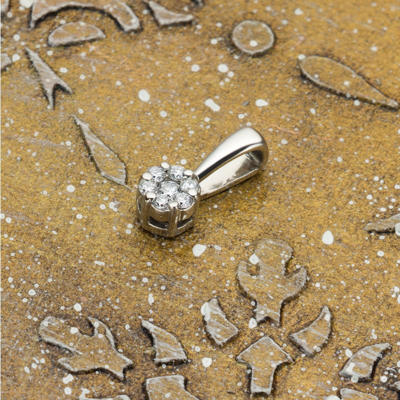 Подвеска из белого золота с бриллиантами э0901пд10134800 (фото 4)