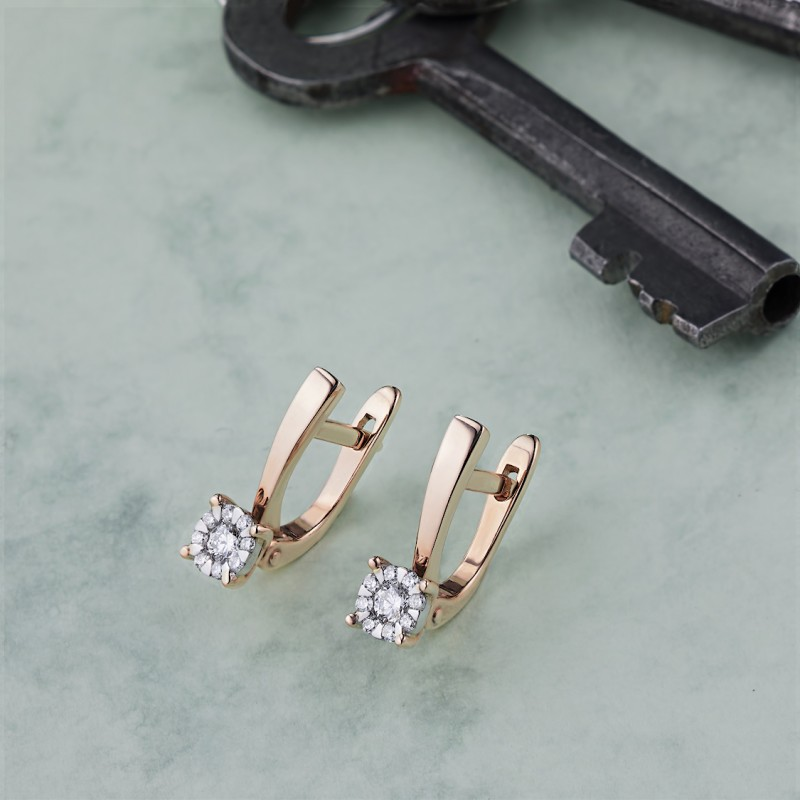 Серьги из золота с бриллиантами э1101сг07176900 (фото 4)
