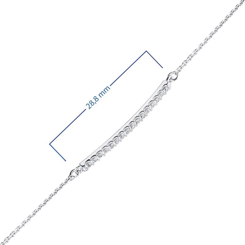 Браслет из белого золота с бриллиантом э0901бр01210108 (фото 3)