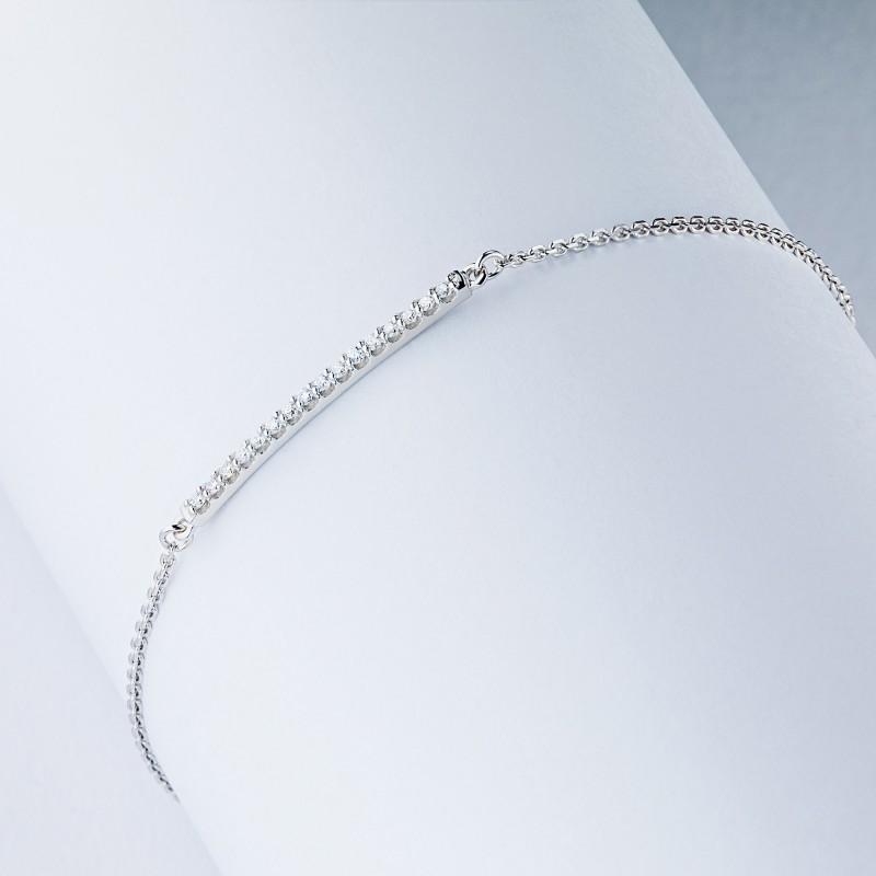 Браслет из белого золота с бриллиантом э0901бр01210108 (фото 4)