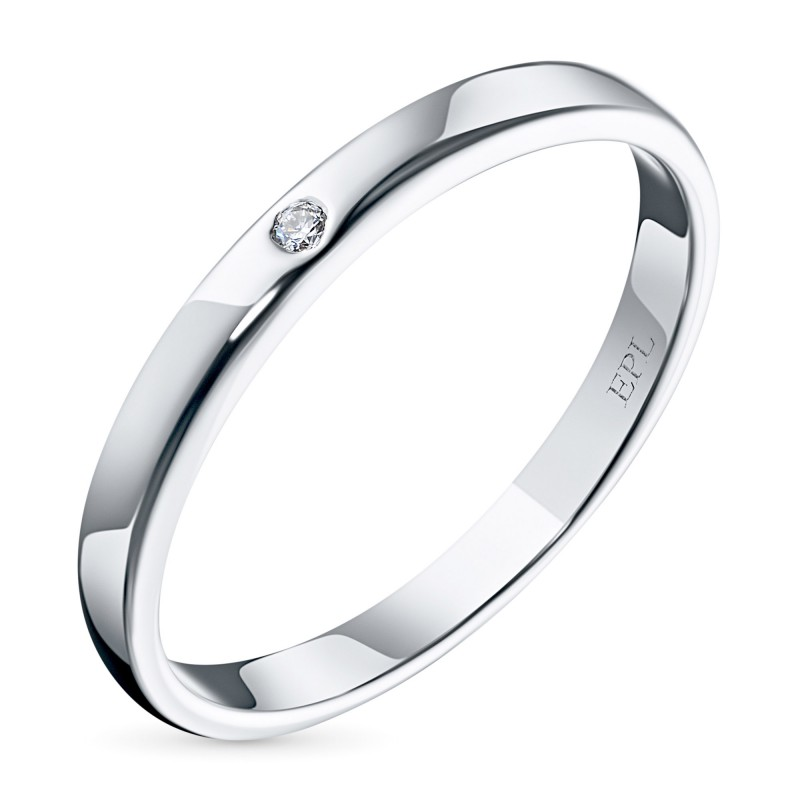 Кольцо из белого золота с бриллиантом э0901кц03153900