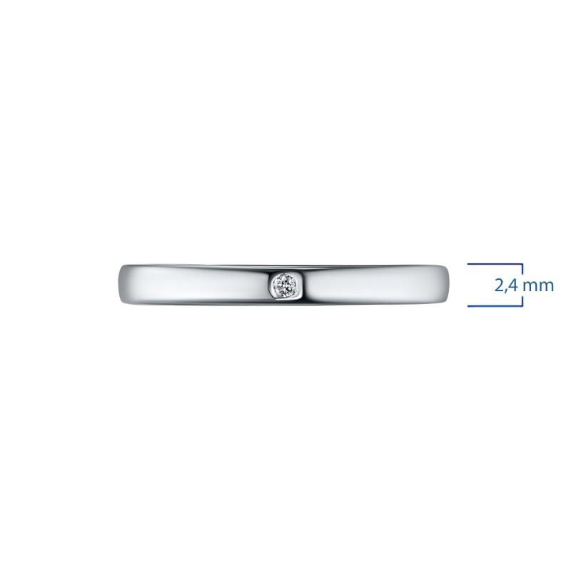 Кольцо из белого золота с бриллиантом э0901кц03153900 (фото 3)
