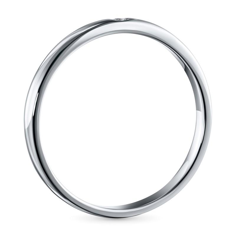 Кольцо из белого золота с бриллиантом э0901кц03153900 (фото 4)