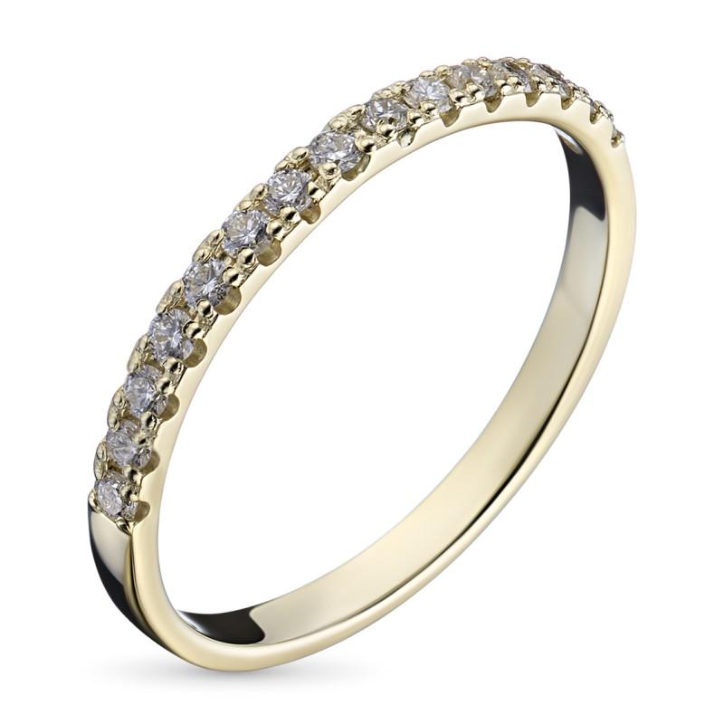 Кольцо из желтого золота с бриллиантом э0301кц08161100