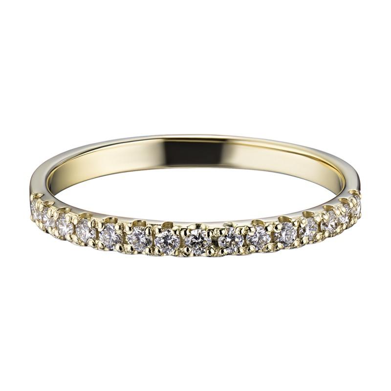Кольцо из желтого золота с бриллиантом э0301кц08161100 (фото 3)
