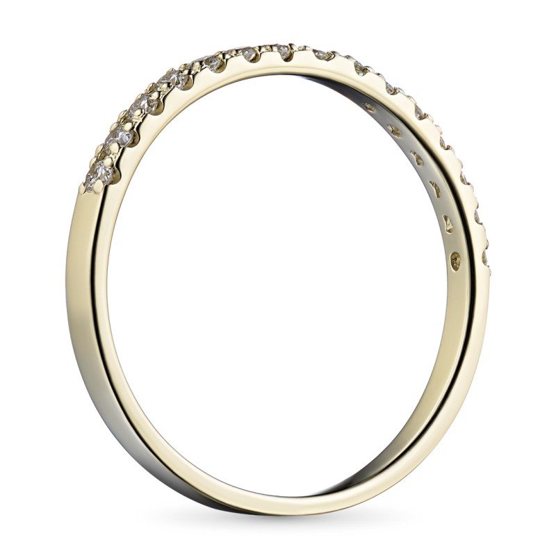 Кольцо из желтого золота с бриллиантом э0301кц08161100 (фото 4)