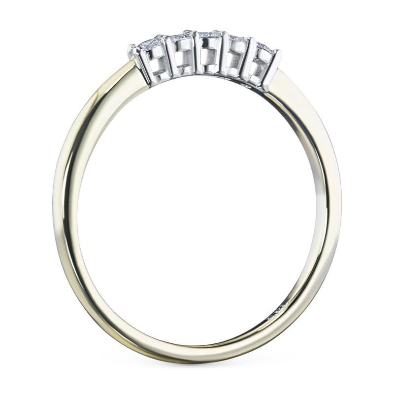 Кольцо из комбинированного золота с бриллиантом э1001кц07198390 (фото 4)
