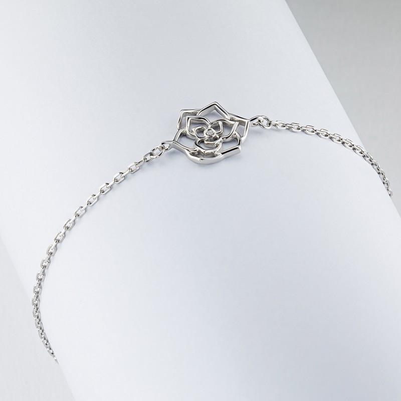 Браслет из серебра с бриллиантом э0601бр07184800 (фото 4)