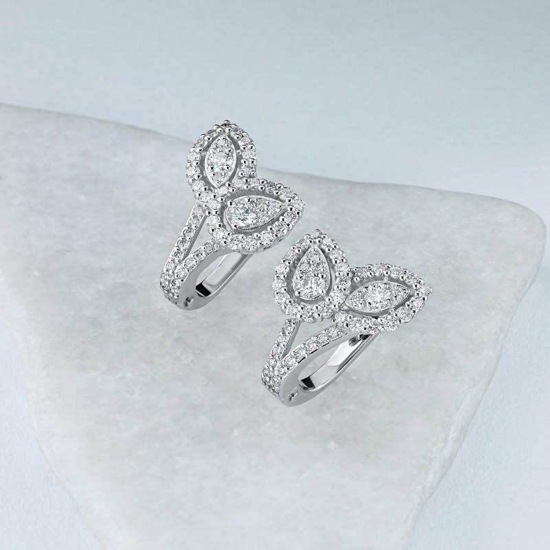 Серьги из белого золота с бриллиантами э0901сг02210964 (фото 4)