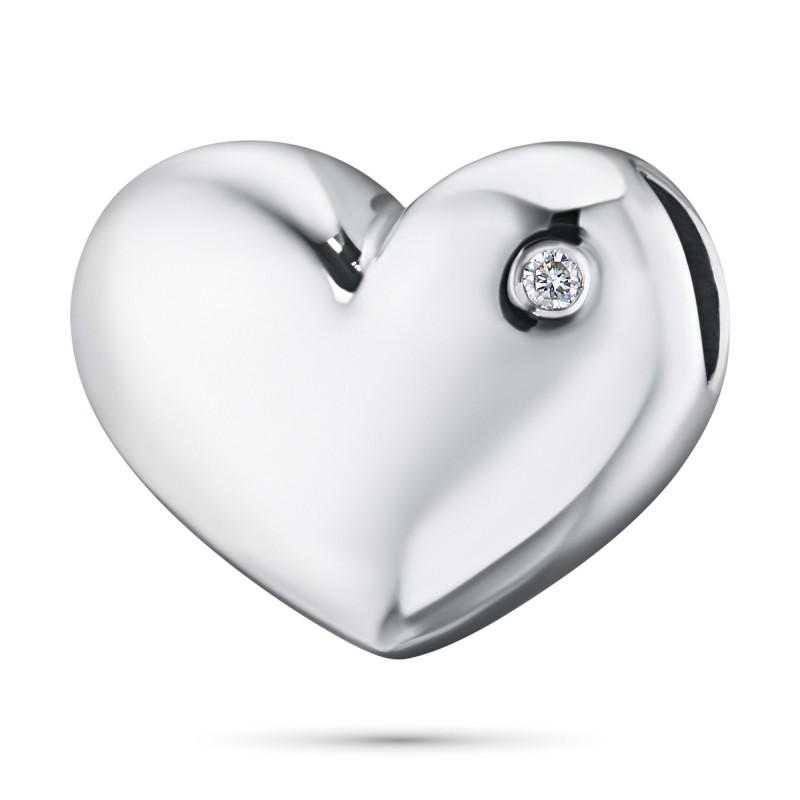 Подвеска из серебра с бриллиантом э0601пд02188700