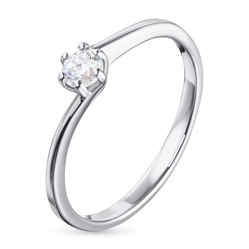 Кольцо из белого золота с бриллиантом э0901кц11200201