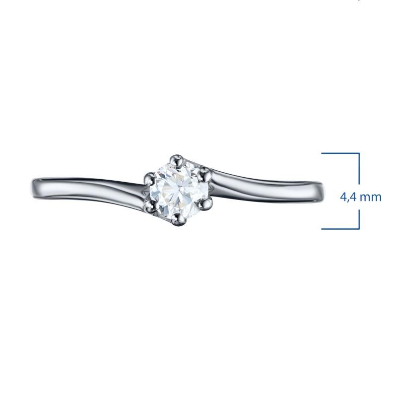 Кольцо из белого золота с бриллиантом э0901кц11200201 (фото 4)