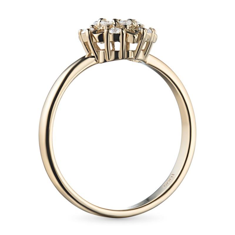 Кольцо из желтого золота с бриллиантами э0301кц10170800 (фото 4)