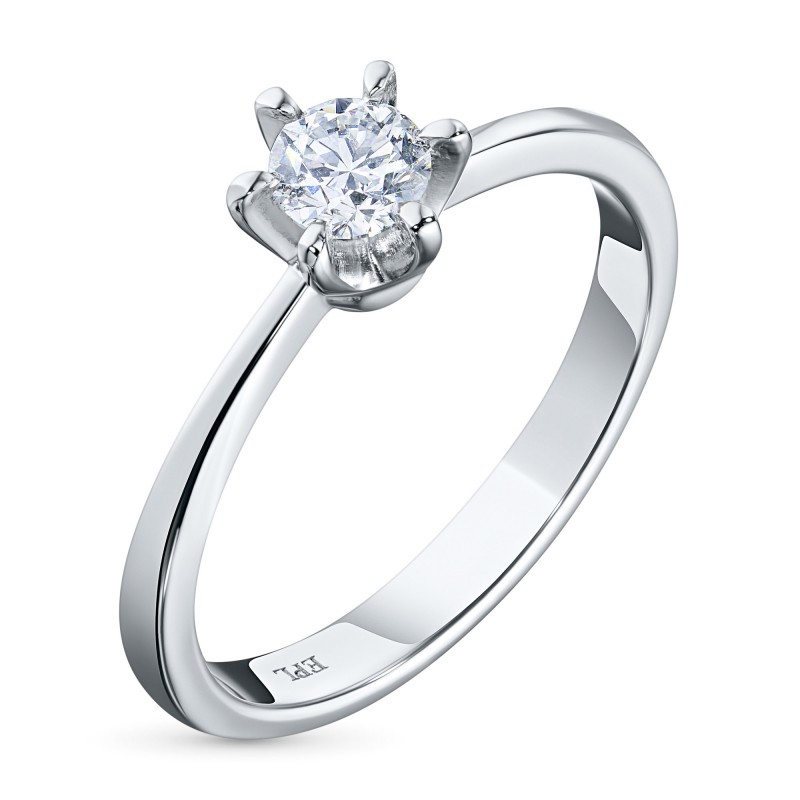 Кольцо из белого золота с бриллиантом э0901кц06160900