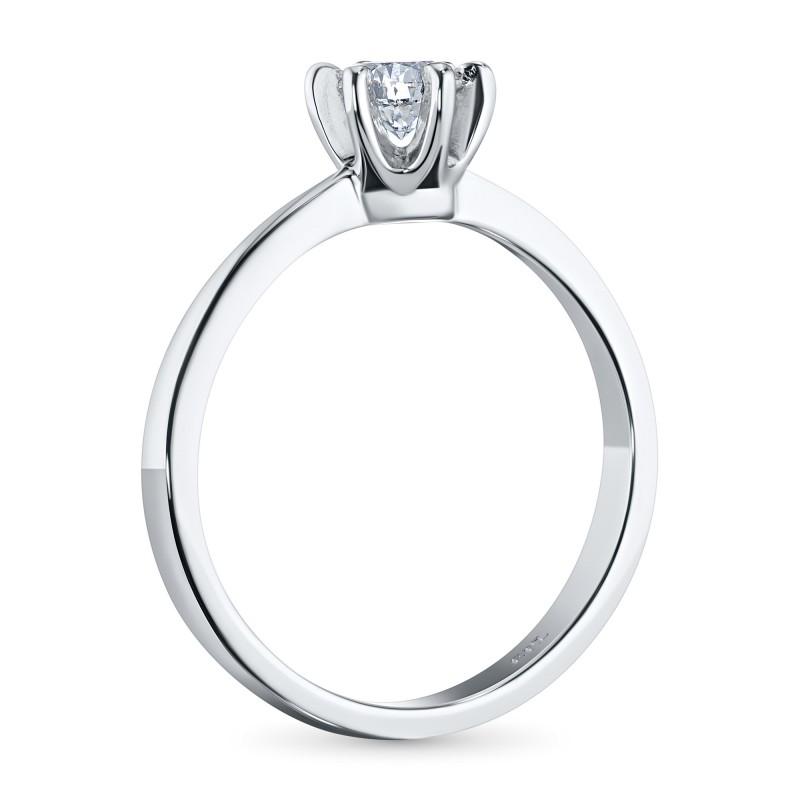 Кольцо из белого золота с бриллиантом э0901кц06160900 (фото 4)