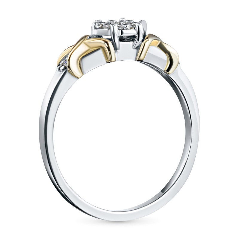 Кольцо из комбинированного золота с бриллиантами э1001кц02203650 (фото 4)