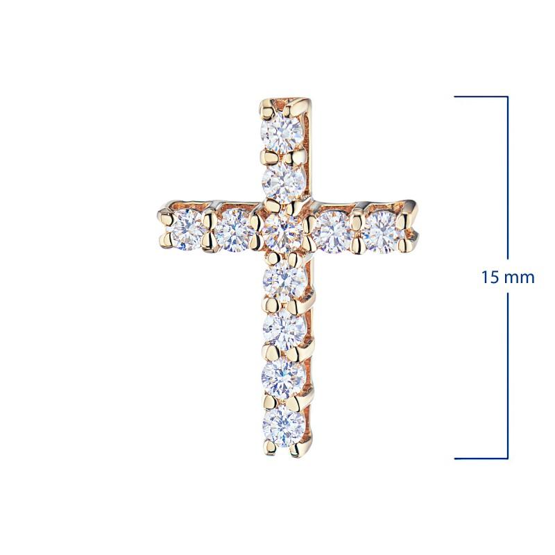 Подвеска из красного золота с бриллиантом э0201пд04201469 (фото 3)