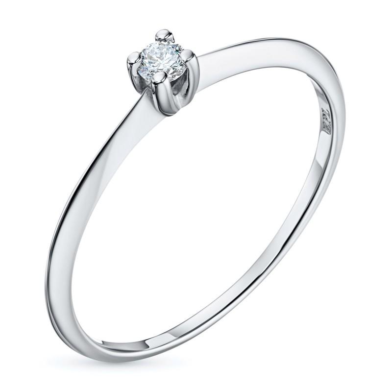 Кольцо из белого золота с бриллиантом э0901кц10200128