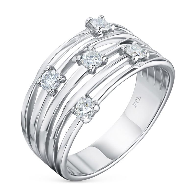 Кольцо из белого золота с бриллиантом э0901кц04210653