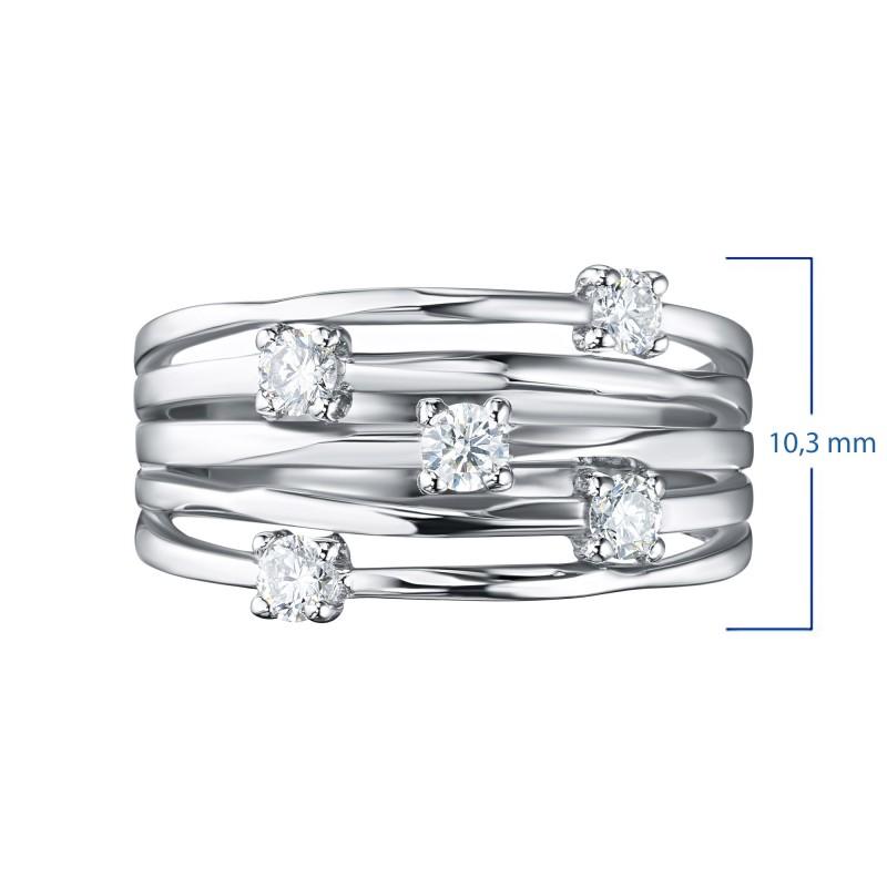 Кольцо из белого золота с бриллиантом э0901кц04210653 (фото 3)