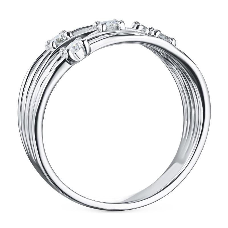 Кольцо из белого золота с бриллиантом э0901кц04210653 (фото 4)