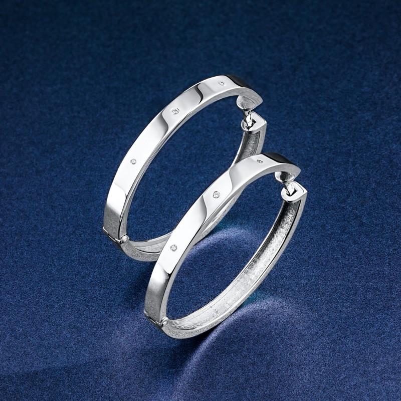 Серьги из серебра с бриллиантом э0601сг05182200 (фото 4)
