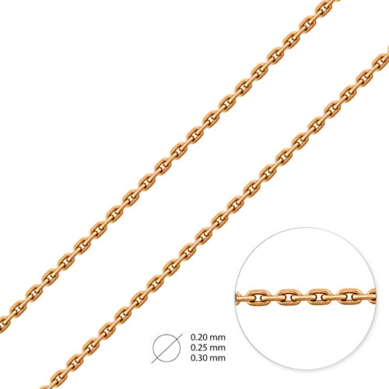 Цепь из красного золота НЦ12-053-0,30