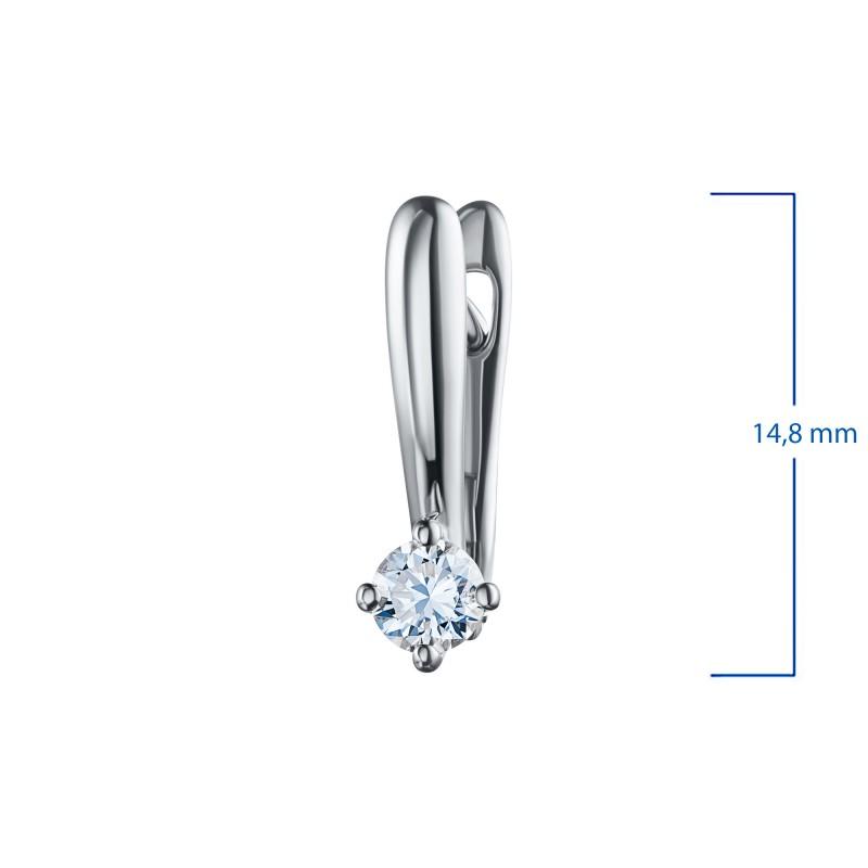 Серьги из белого золота с бриллиантом э0901сг07200216 (фото 3)