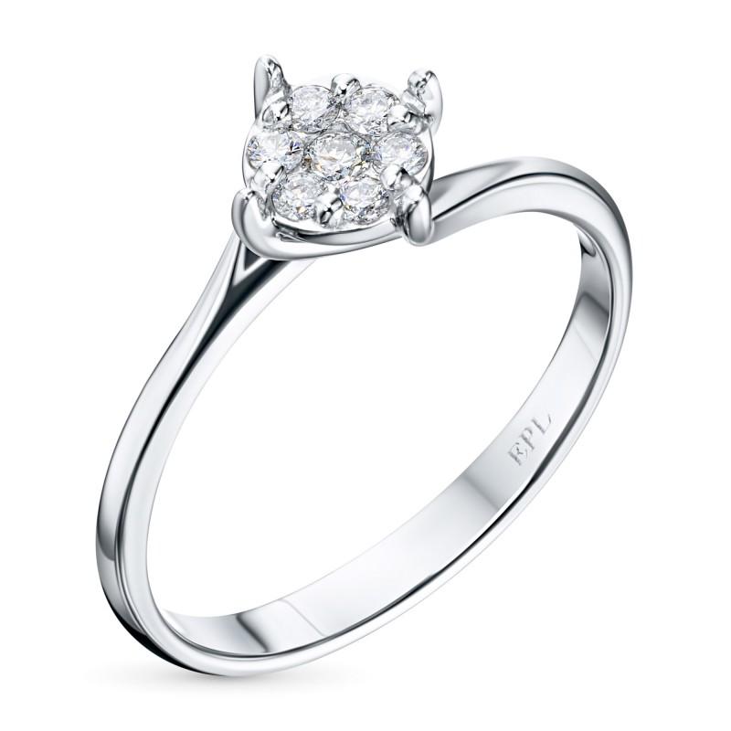 Кольцо из белого золота с бриллиантами э0901кц09200304