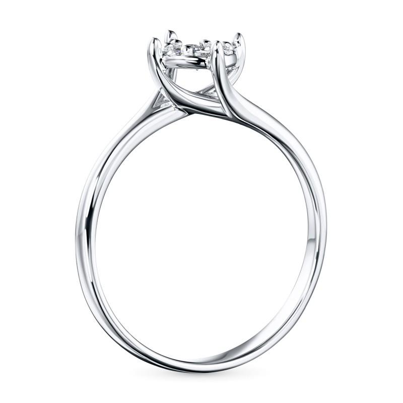 Кольцо из белого золота с бриллиантами э0901кц09200304 (фото 4)