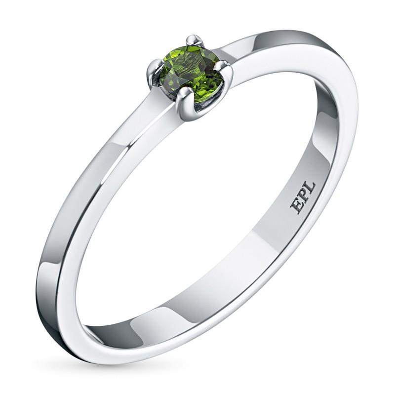 Кольцо из серебра с хромдиопсидом э0605кц03154200