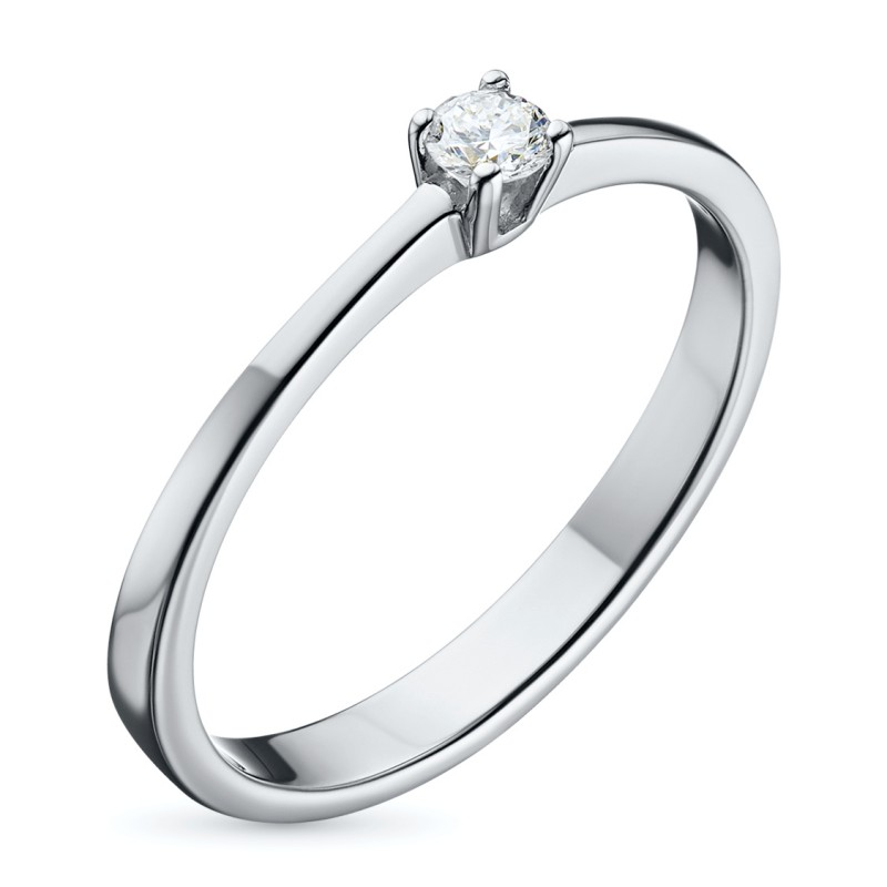 Кольцо из серебра с бриллиантом э0601кц09152400