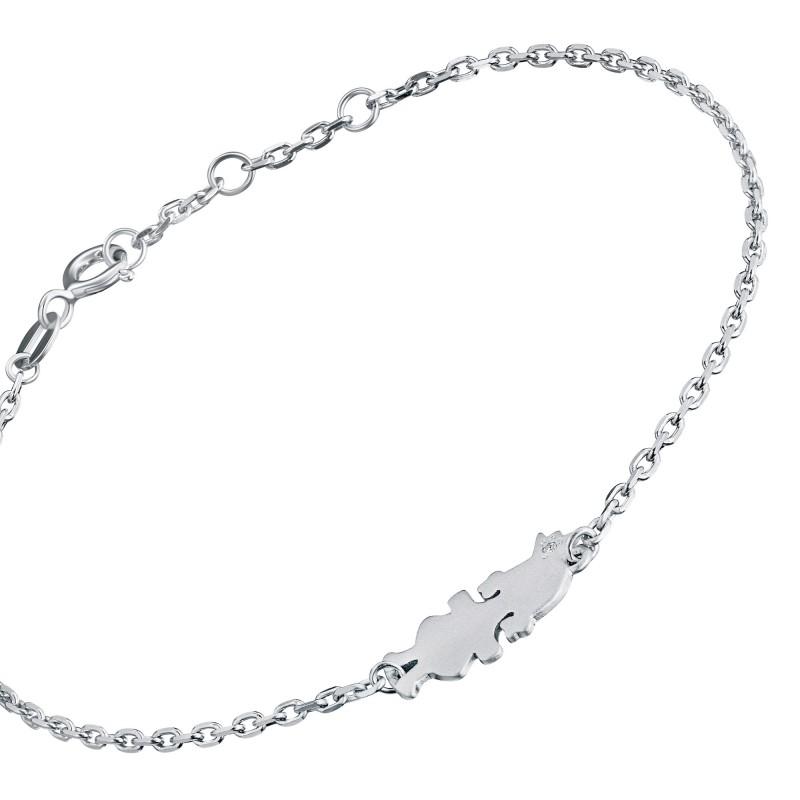 Браслет из серебра с бриллиантом э1701бр11174600 (фото 2)