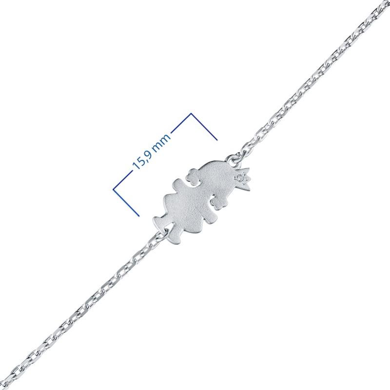 Браслет из серебра с бриллиантом э1701бр11174600 (фото 3)
