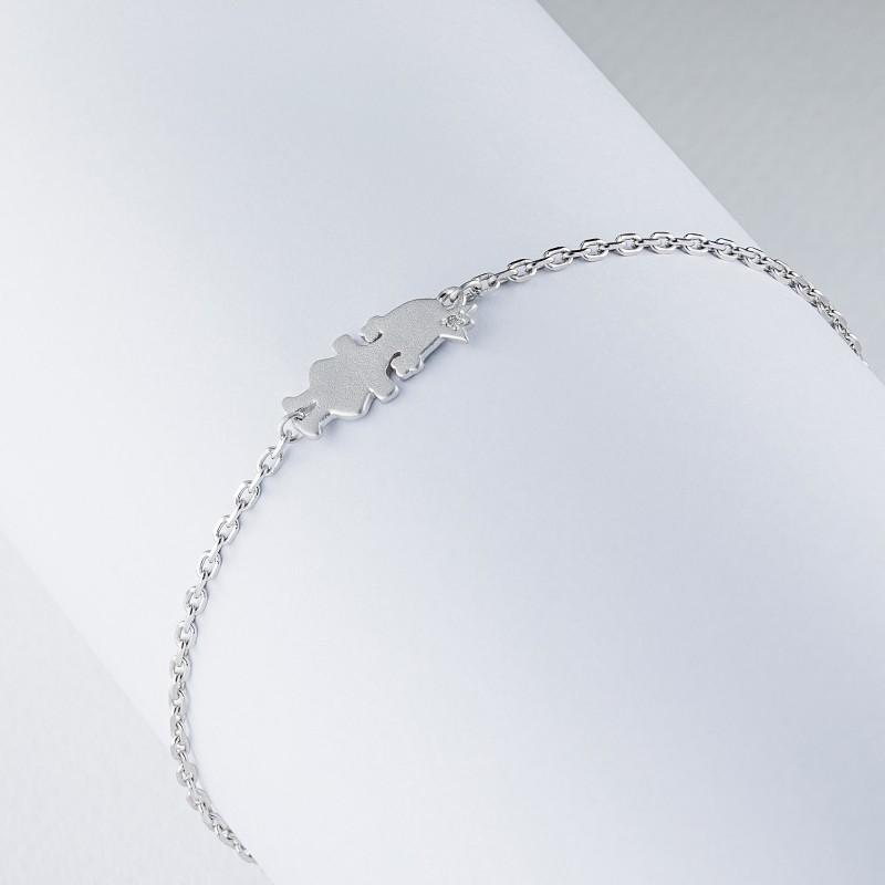 Браслет из серебра с бриллиантом э1701бр11174600 (фото 4)
