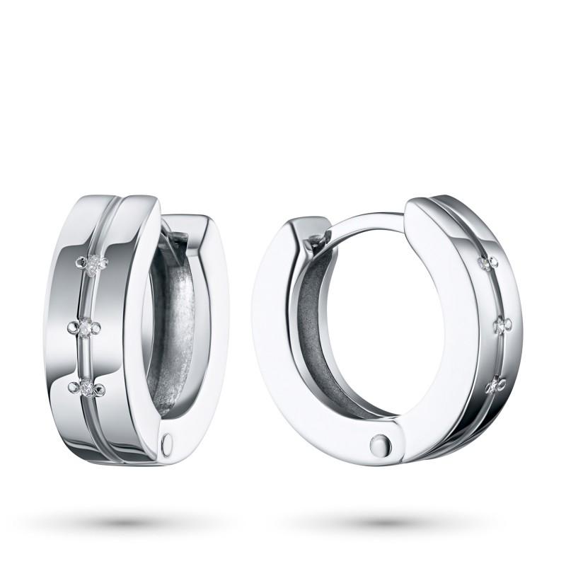 Серьги из серебра с бриллиантом э0601сг03152900