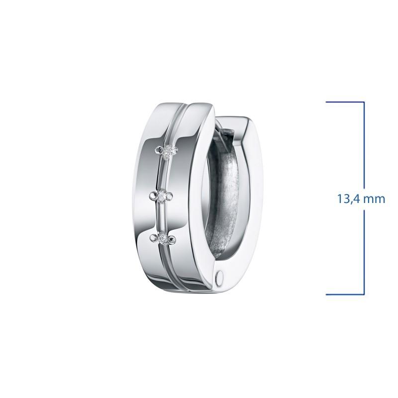 Серьги из серебра с бриллиантом э0601сг03152900 (фото 3)
