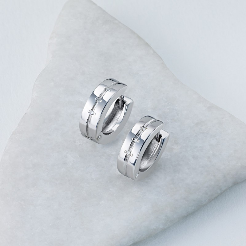 Серьги из серебра с бриллиантом э0601сг03152900 (фото 4)