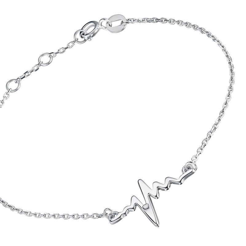 Браслет из серебра с бриллиантом э0601бр07191020 (фото 2)
