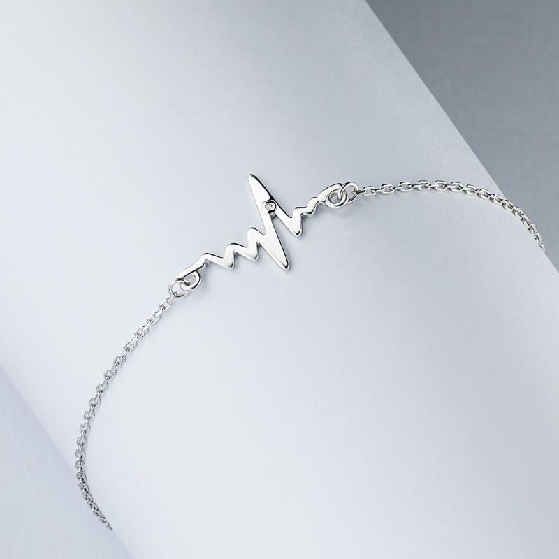 Браслет из серебра с бриллиантом э0601бр07191020 (фото 4)