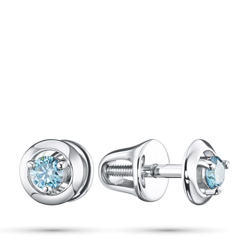 Пусеты из серебра э0612пс10090300_blue