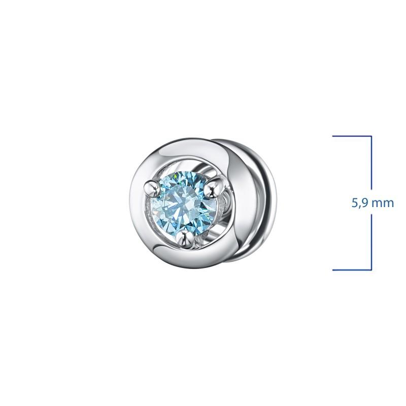 Пусеты из серебра э0612пс10090300_blue (фото 3)
