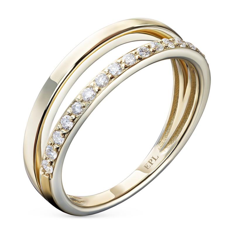 Кольцо из желтого золота с бриллиантами э0301кц07210009