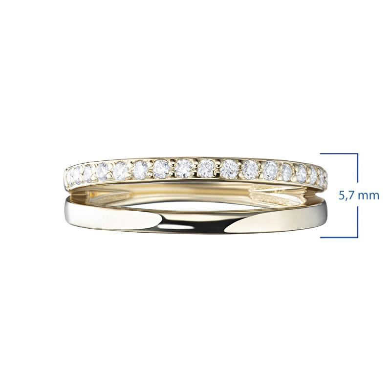 Кольцо из желтого золота с бриллиантами э0301кц07210009 (фото 3)