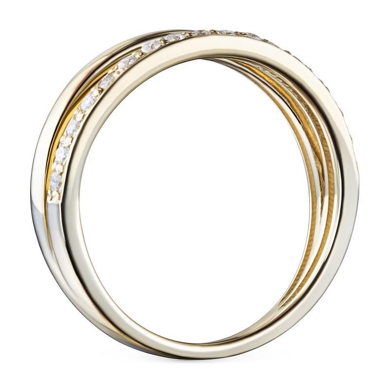Кольцо из желтого золота с бриллиантами э0301кц07210009 (фото 4)