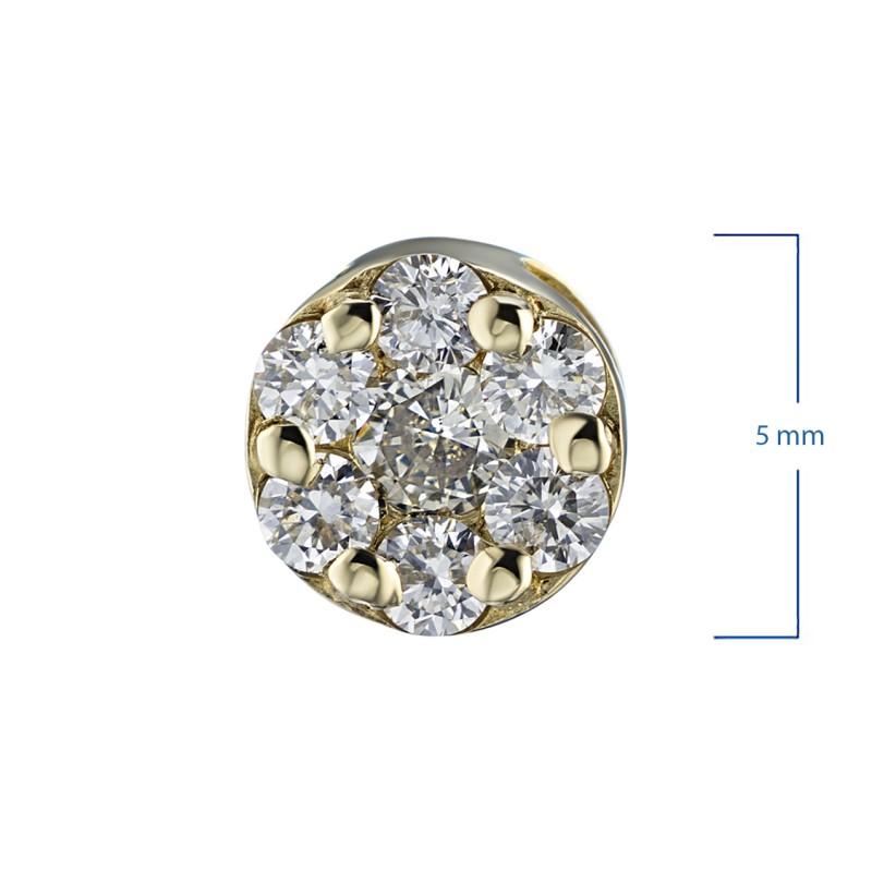 Подвеска из желтого золота с бриллиантами э0301пд04152800 (фото 2)