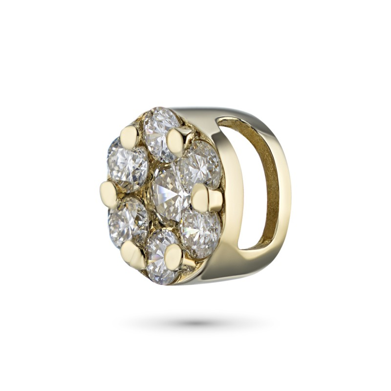 Подвеска из желтого золота с бриллиантами э0301пд04152800 (фото 3)
